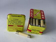 20x SIBA Sicherung 6.3 x 32 mm, 0,75A, 3/4 Ampere, 250V L-Nr. 76623, NOS