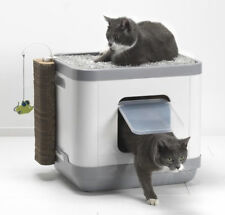 MAISON DE TOILETTE CHAT/BAC LITIÈRE CHAT-AIRE DE REPOS ET DE JEU LE CUBE AS97386