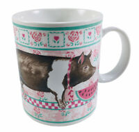 Otagiri Coffee Mug Cup Vintage To Eat is Human To Pig Out is Divine Watermelon