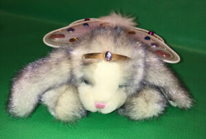 Aurora Bunny Rabbit Flutterbunnies Wings Plush Jewels Purple White Sharon Larsen