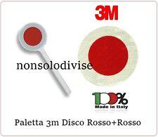 Paletta Segnaletica Stradale Disco Rosso + Rosso  Classe III° Neutra 3M original