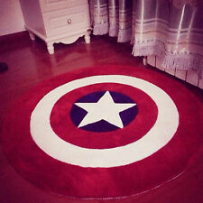 Rug Bath Mat Avengers Captain America Star Living Door Mats Round Floor UK NEW