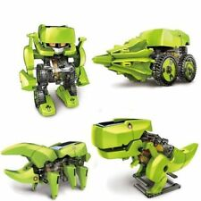 DIY 4 IN 1 Educational Learning Power Dragon Solar Robot Toy Kit For Kids