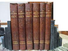 La Santa Biblia. (en Español y Latín) 6 tomos. Felipe Scio. 1856.Imprenta Riera
