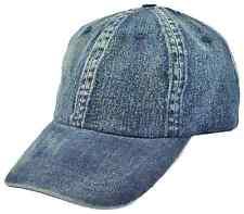 Men's Denim Baseball Cap with buckle adjuster - One Size