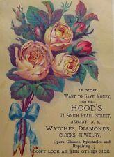 1870's-80's Hood's Watches Clocks Jewelry Diamonds Opera Glasses Spectacles *G