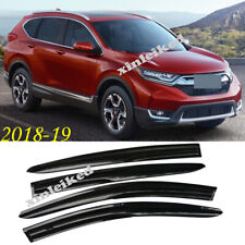 4X For Honda CRV CR-V 2017-2019 Black Side Window Visors Rain Guard Deflectors
