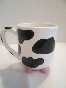 Boston Warehouse  Cow Udder Mug Coffee Tea Cup Farm Black White 20 Ounce