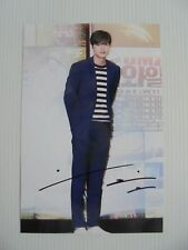 Lee Min Ho Korean Actor Signed 4x6 Photo Autograph hand signed USA Seller A5