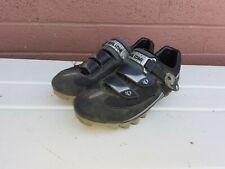 Pearl Izumi Men's Sz 44/10 Attack Mtb Black Silver Cycling Shoes Mt. Biking