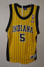 Champion Indiana Pacers NBA Basketball Jersey #5 Jalen Rose Kids Medium 10-12