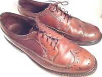 Cole Haag Imperial Men's Oxford Dress Shoes 8.5 D Brown Leather Wingtip