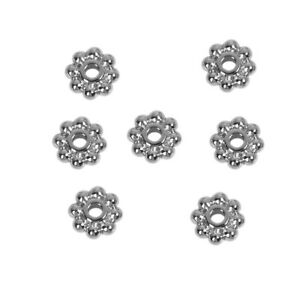 6mm x 100 Tibetan Silver Daisy Spacer Beads Bead Jewellery Craft Findings