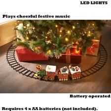 New Christmas North Pole Musical Express Train Set LED light toys