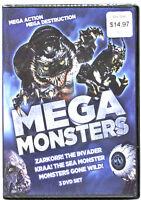 Mega Monsters (DVD, 2013, 3-Disc Set) BRAND NEW SEALED