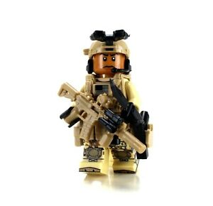 African American Special Forces Soldier (SKU21) made with real LEGO®