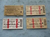 WWII Montepelier and Wells River Railroad Ticket Lot Dated 1943 Used WW2