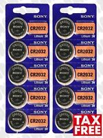 10 Pcs SONY CR2032 Lithium Cell Battery 3V, 220mAh, DL2032 BR2032. Exp. 2030