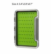 1 Pc Rudder Fly Box Fly Fishing Double Sides Single Pocket Silicon Foam