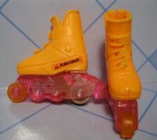 BARBIE Rollerblade Sport Doll Flicker Flash Skates Inline Roller Blade Shoes !