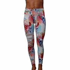 Ladies Gym wear exercise fitness wear Tights size 8, 10, 12, 14 Skulls
