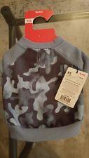 pets dog apparel Reddy blue camo sweatshirt material shirt XS