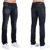 2.Wahl Diesel Herren Regular Slim Fit Stretch Jeans Dunkelblau Safado X 0890Z