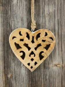 Dekohänger Herz Herzhänger Wanddeko Fensterdeko Türdeko Valentinstag Geschenk