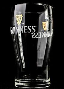 Guinness Bier Glas / Gläser, Bierglas mit Doppel Logo 0,3l