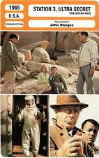 FICHE CINEMA : STATION 3 ULTRA SECRET - Maharis,Basehart,Sturges 1965 Satan Bug