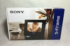 "NEW Sony S-Frame 7"" Digital Photo Frame Picture w/ Remote DPF-D72N"