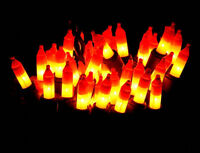 50 MINI CANDY CORN HALLOWEEN STRING LIGHTS two tone spooky fun decoration 10.5