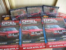3er Set Commodore A Coupe GS/E rot/schw. 1:43 Opel Collection incl.Begleithefte