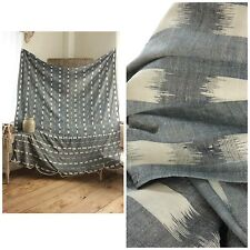 Antique Ikat fabric French daybed day bed cover Ikat Indigo blue cotton