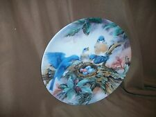 Bradford Exchange Plate Song Of Promise Lena Liu 1989 Bluebird Nature'S Poetry