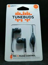 #665B    New Griffin Tunebuds 3.5mm Stereo Handsfree Headset Black