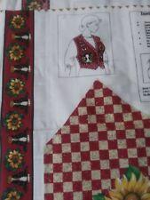 American FARM Homestead COW Barn Vest fabric Sewing Panel 100% COTTON Uncut