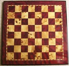 "Chess Board 15"" Mahogany & Birdseye Maple overlay NIB"