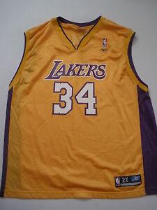 REEBOK LA.LAKERS O'NEAL  # 34 jersey size 2X NEW SALE