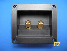 Speaker TERMINAL Plate With 2x Gold Binding Post Banana Plug Connector R125