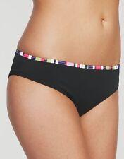 Just Peachy Figleaves Tequila Kir Royale Classic Bikini Brief Black Sizes 8 10 8