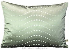 Laura Ashley Silver Satin Designer Spotted Fabric Cushion Pillow Cover