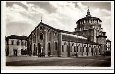 Milano Mailand Italien Postkarte ~1930/40 Chiesa delle Grazie Straßenpartie Auto