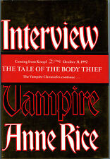 Fiction: INTERVIEW WITH THE VAMPIRE by Anne Rice. 1992. Limited signed reissue
