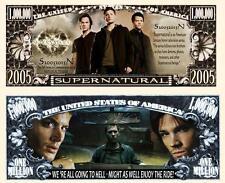 SUPERNATURAL Série TV. Million Dollar USA . Billet de commémoration / Collection