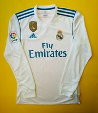 5+/5 Real Madrid jersey small 2018 long sleeve shirt B31106 soccer Adidas ig93