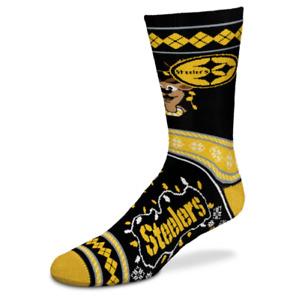 Pittsburgh Steelers Football Holiday Sweater Stripe Deuce Crew Socks