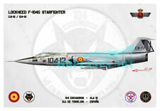 F-104 Starfighter Aviation Art Spanish Air Force Ejército Aire Spain Print