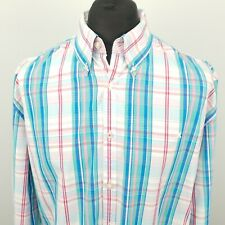 Gaastra Mens Shirt Nautical 2XL Long Sleeve Green Regular Fit Check Cotton