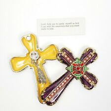 Exquisite Cross Statue Inlaid Rhinestones Mini Jewelry Trinket Prayer Resin Box